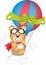 Stock Image : Hot air balloon with teddy bear