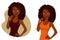 Stock Image :  Schitterend Afrikaans Amerikaans meisje met natuurlijk krullend haar