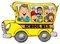Stock Image : School Bus with Kids