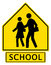 Stock Image : Slow Down! School Zone Ahead