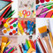 Stock Image : School and office supplies collection