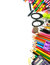 Stock Image : School and office supplies frame