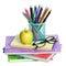 Stock Image : School Supplies isolated.