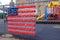 Stock Image : School Yard American Flag
