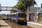 Stock Image : Scotrail dmu train passing Barry Links station