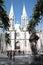 Stock Image :  Se katedra i statua Anchieta w Sao Paulo