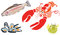 Stock Image : Sea Creatures Set
