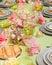 Stock Image : Seafood on festive dinner table