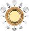 Stock Image : Seafood Menu with Metal Porthole