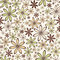 Stock Image : Seamless abstract pattern with beige and green flowers. Vector illustration.