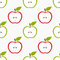 Stock Image : Seamless apple pattern