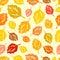 Stock Image : Seamless autumn pattern.