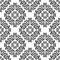 Stock Image : Seamless black damask Pattern on the white Background.