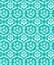 Seamless blue damask bird pattern