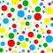 Stock Image : Seamless Bright Multi Polka Dot