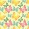 Stock Image : Seamless butterflies pattern