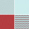 Stock Image : Seamless Chevron Patterns Aqua Blue, Dark Red and White