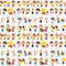 Stock Image : Seamless children