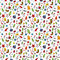 Stock Image : Seamless christmas doodle pattern