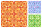 Stock Image : Seamless floral pattern in different color schemes