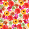 Stock Image : Seamless Flower Print