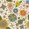 Stock Image : Seamless flowers pattern