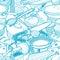 Stock Image : Seamless kitchen stuff pattern