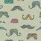 Stock Image : Seamless mustache pattern