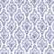 Stock Image : Seamless Navy Blue & White Damask