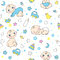 Stock Image : Seamless pattern for baby boys.