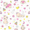 Stock Image : Seamless pattern for baby girls.