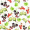 Stock Image : Seamless pattern with berries
