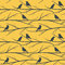 Stock Image : Seamless pattern with birds on branches vector eps8
