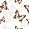 Stock Image : Seamless pattern with butterflies