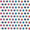 Stock Image : Seamless pattern of colorful circles  hand-drawn . Summer background.