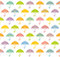 Stock Image : Seamless pattern with colorful umbrellas.