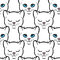Stock Image : Seamless pattern with cute white cats