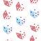 Stock Image : Seamless pattern dice
