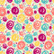 Stock Image : Seamless pattern with doodle dots.