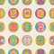 Stock Image : Seamless pattern with  ethnic ornament. Polka dot