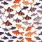 Stock Image : Seamless pattern fishes aquarium.