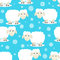 Stock Image : Seamless pattern of funny sheep