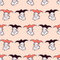 Stock Image : Seamless pattern with harlequin faces