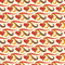 Stock Image : Seamless pattern with  hearts