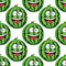 Stock Image : Seamless pattern of a laughing watermelon