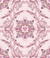 Stock Image : Seamless pattern with mauve bells in the deciduous