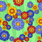 Stock Image : Seamless pattern multi-colored flowers