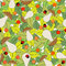 Stock Image : Seamless pattern with mushrooms