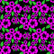 Stock Image : Seamless Pattern with pink Flowers on the black.