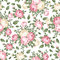 Stock Image : Seamless pattern with pink and white roses.